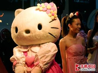 邹娜代言!OKWAP新Hello Kitty手机发布