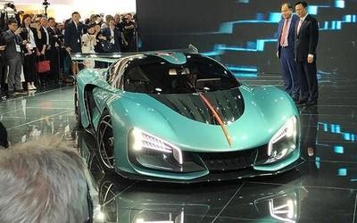 一汽红旗S9超级跑车发布 混动/全车碳纤维/1.9秒破百