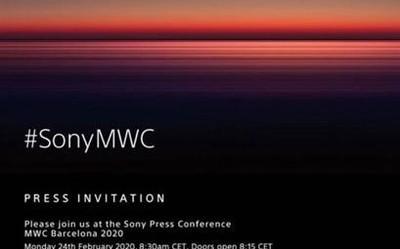 索尼發出MWC 2020邀請函 驚喜可能不止一款5G手機