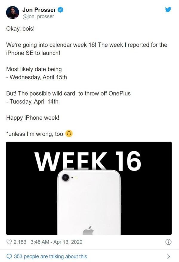 """新款iPhone SE发布日期曝光:会是下一款小屏""""真香""""么"""
