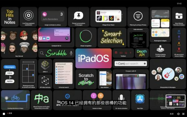 iPadOS 14鍏ㄩ儴鍔熻兘鏇存柊