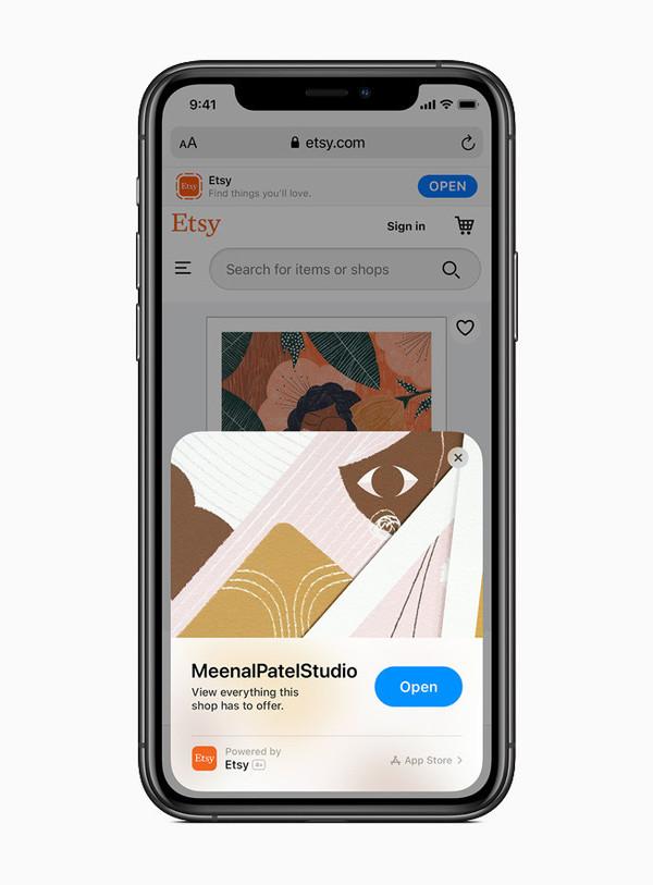 在Safari中开启App Clips