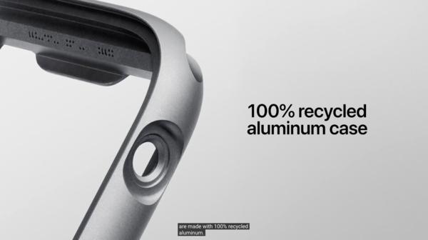 Apple Watch Series 6表壳采用100%回收铝制作而成