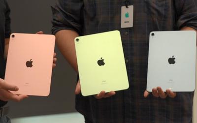 全新iPad系列现场上手!A14芯片很强 蓝绿配色可真香