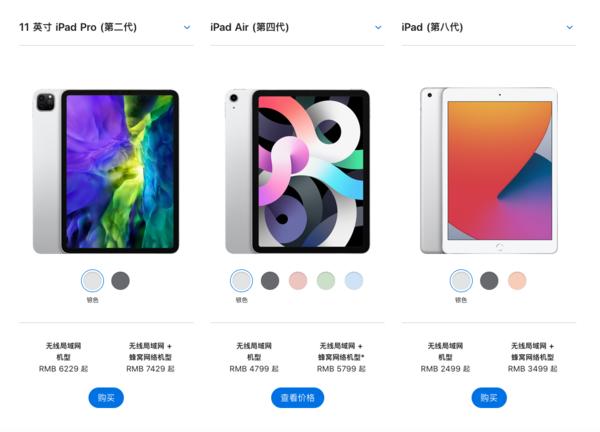 iPad产品线