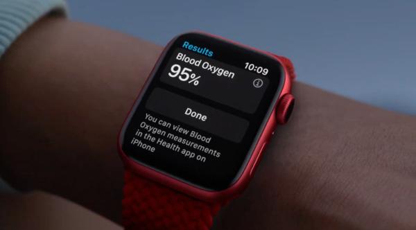 Apple Watch Series 6支持血氧监测