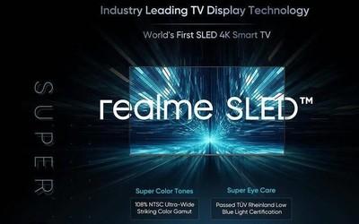 realme海外官宣世界首款SLED智能电视 将替代量子点