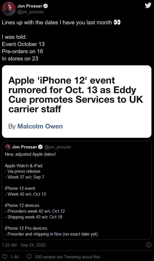 iPhone 12發布/開售時間泄露?想買Pro版本還要再等等