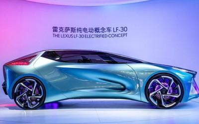 雷克萨斯纯电动概念车LF-30首秀!造型夸张外观吸睛