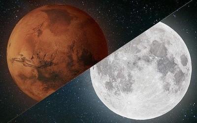 火星伴月今晚上演!记住这个方位和时间 不要错过了