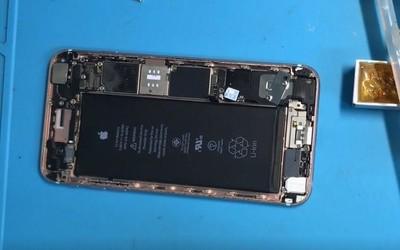 蘋果手機6sPlus故障開機不顯示之主板故障維修