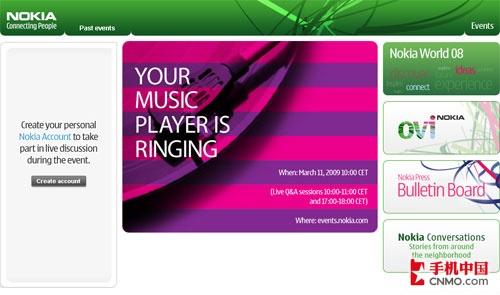 诺基亚本月11日将发布新款XM音乐手机