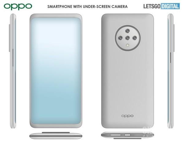 OPPO全新手機外觀專利發布