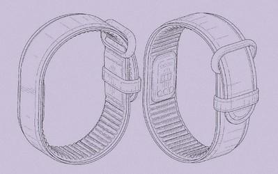 谷歌自研智能手环设计专利曝光:采用无屏幕设计
