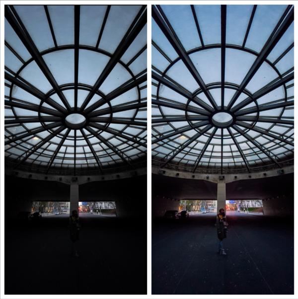 由Eric Zhang拍摄的调整前照片(左)对比调整后照片(右)