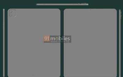 2021款iPad Pro CAD渲染图泄露 外观和上代相差不大