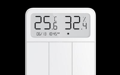 小米米家屏显开关上线众筹!带屏幕可显示温湿度