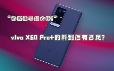"""""""老板我要超大杯!""""vivo X60 Pro+的料到底有多足?"""
