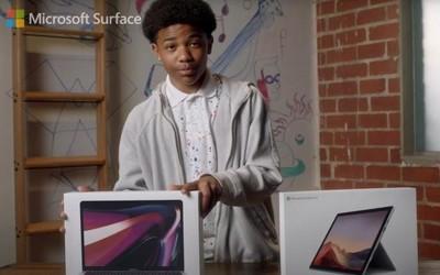 微软新广告:Surface Pro 7是比MacBook Pro更好的选择