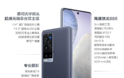 vivo X60 Pro+今日正式开售 搭载超感光微云台双主摄