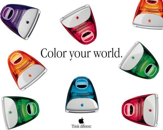 国际多彩,让我们想点更不相同的:新iMac的根源与进化