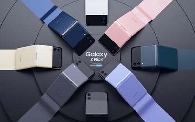 三星Galaxy Z Flip3高清渲染图曝光 网友:更有辨识度