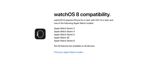 watchOS 8设备升级一览表