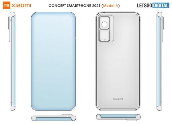 小米瀑布屏手机专利揭露:正面无开孔 侧边无按键