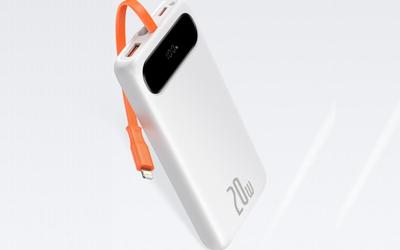 倍思推出旗下首款20W自带线10000mAh移动电源