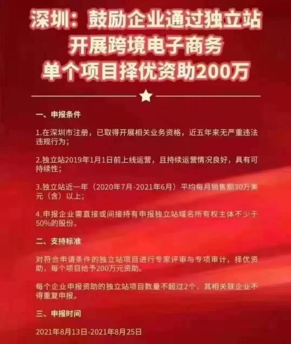 深圳補貼200萬元