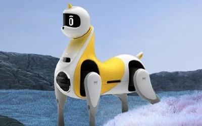 """小鹏发布全球首款可骑乘智能机器马 小朋友的新""""鹏""""友"""
