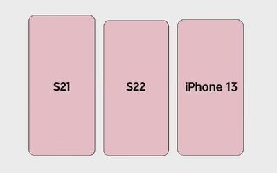 三星S22和iPhone 13大小對比圖曝光 電池容量認真的?