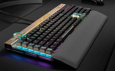 這外觀hin奢華 美商海盜船首發K100璀璨金特別版鍵盤