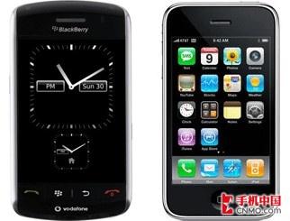 BlackBerry dan iPhone keuntungan dan kerugian dari kontras